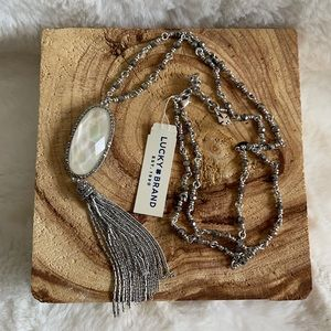 NWT Lucky Brand reversible tassel chain necklace